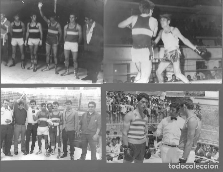 LOTE DE 6 FOTOS DE BOXEO EN ALGECIRAS FOTOGRAFOS SALCEDO Y HERMANOS MARTIN ALGECIRAS (Coleccionismo Deportivo - Postales de otros Deportes )