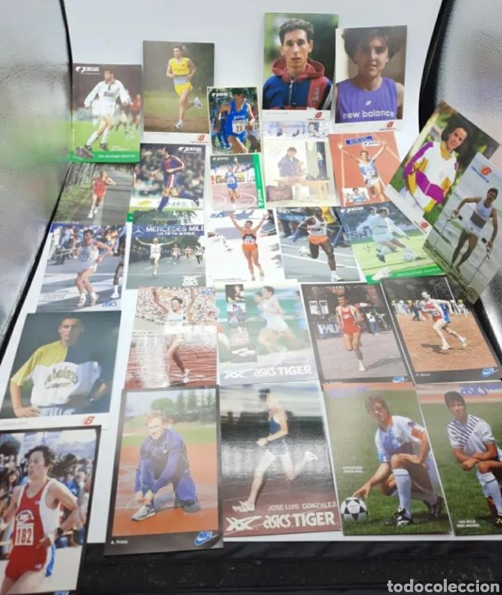 LOTE DE ANTIGUAS FOTOS IMÁGENES Y POSTALES DE DEPORTISTAS (Coleccionismo Deportivo - Postales de otros Deportes )