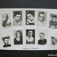 Coleccionismo deportivo: INDIVIDUELS FRANÇAIS-ALLES-AUVILLE-GODARD-LEMARIE-GUBRON-DUBOIS-FOTOGRAFICA-POSTAL ANTIGUA-(76.967). Lote 236251705