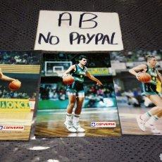 Coleccionismo deportivo: LOTE 3 FOTO FOTOGRAFÍA TIPO POSTAL PUBLICITARIA CONVERSE JUVENTUD LECHE RAM. Lote 240289510