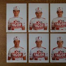 Coleccionismo deportivo: LOTE POSTALES EQUIPO CICLISTA FAGOR AÑOS 80 CICLISMO VUELTA ESPAÑA GIRO ITALIA TOUR FRANCIA. Lote 245267245