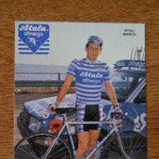 Coleccionismo deportivo: LOTE POSTAL EQUIPO CICLISTA ATALA AÑOS 80 CICLISMO VUELTA ESPAÑA GIRO ITALIA TOUR FRANCIA. Lote 245272940