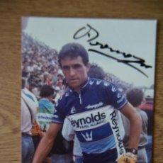 Coleccionismo deportivo: FOTO AUTÓGRAFO ÁNGEL ARROYO REYNOLDS AÑOS 80 CICLISMO VUELTA ESPAÑA GIRO ITALIA TOUR FRANCIA. Lote 245277175