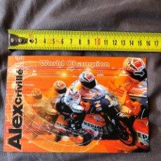 Coleccionismo deportivo: COLECCION POSTAL REPSOL HONDA, ALEX CRIVILLE, WORLD CHAMPION, MOTO GP. Lote 245493585