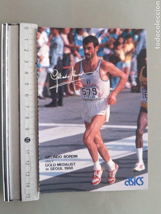 POSTAL ASICS ATLETA GELINDO BORDIN, SEUL 88 (Coleccionismo Deportivo - Postales de otros Deportes )