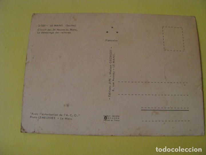 Coleccionismo deportivo: POSTAL DE CIRCUITO LE MANS. (SARTHE). CIRCUIT DES 24 HEURES DU MANS. ED. JIPE. - Foto 2 - 249238710