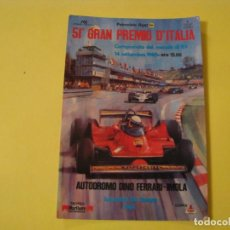 Coleccionismo deportivo: POSTAL DE 51 GRAN PREMIO DE ITALIA. FORMULA 1. 1980. AUTODROMO DINO FERRARI - IMOLA.. Lote 249239325