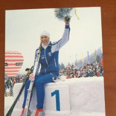 Coleccionismo deportivo: ESQUI KARHU POSTAL PUBLICITARIA ORIGINAL. Lote 253635525