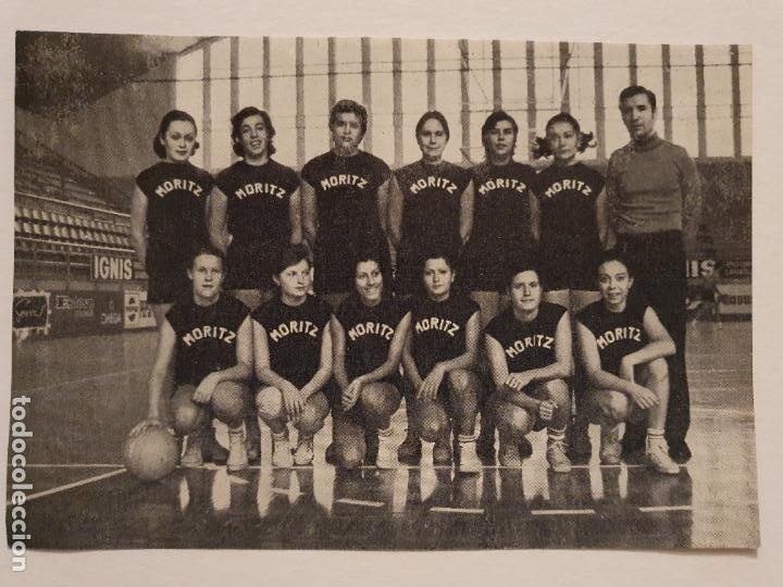 CLUB MORITZ - BALONCESTO / BÁSQUET - NO ES POSTAL - P49812 (Coleccionismo Deportivo - Postales de otros Deportes )