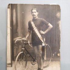 Coleccionismo deportivo: POSTAL ORIGINAL MANUSCRITA Y AUTOGRAFIADA POR CICLISTA DE FELANITX, SIMON FEBRER 1914, ÚNICA. Lote 261784700