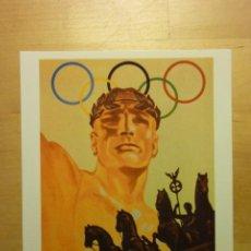 Coleccionismo deportivo: TARJETA POSTAL CARTEL JUEGOS OLÍMPICOS BERLÍN 1936 ALEMANIA. Lote 262083260