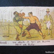 Coleccionismo deportivo: BOXEO-BOXE-UN NOIR A QUI UN BLANC FAIT UN BLEU-POSTAL ANTIGUA-(80.645). Lote 262943175