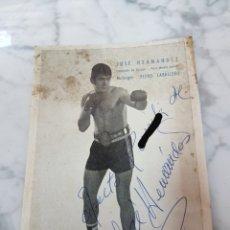 Coleccionismo deportivo: ANTIGUA FOTO FIRMADA BOXEADOR JOSE HERNANDEZ. Lote 265466049