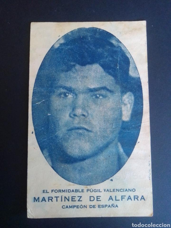 FOTOGRAFÍA DE MARTÍNEZ DE ALFARA CON PUBLICIDAD DE LA CERVECERÍA OLIMPIA. VALENCIA. AÑOS 30. (Coleccionismo Deportivo - Postales de otros Deportes )