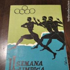 Coleccionismo deportivo: DÍPTICO 2 SEMANA OLÍMPICA 1961 VALENCIA. Lote 268948134