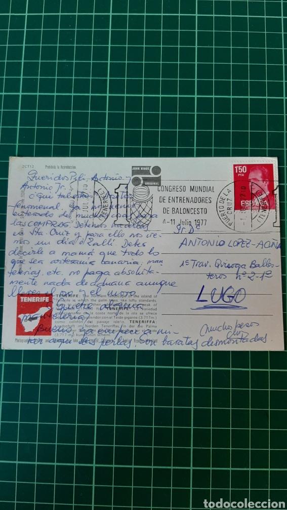 BALONCESTO COGRESO.MUNDIAL ENTRENADORES 1977 TENERIFE RODILLO MATASELLO (Coleccionismo Deportivo - Postales de otros Deportes )