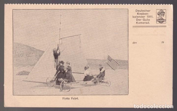 ALEMANIA. *FLOTTE FAHRT* KNABEN-KALENDER 1911. NUEVA. (Coleccionismo Deportivo - Postales de otros Deportes )