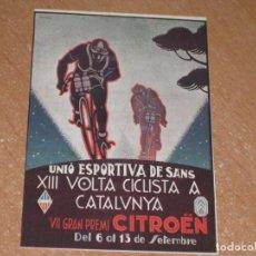 Coleccionismo deportivo: POSTAL DE XIII VUELTA CICLISTA A CATALUÑA. Lote 270213313