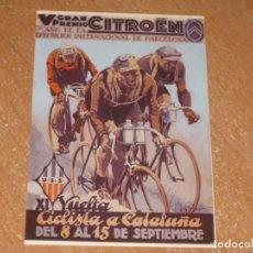 Coleccionismo deportivo: POSTAL DE VUELTA CICLISTA A CATALUÑA 1929. Lote 270213563