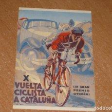 Coleccionismo deportivo: POSTAL DE X VUELTA CICLISTA A CATALUÑA. Lote 270213898