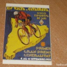 Coleccionismo deportivo: POSTAL DE VUELTA CICLISTA A CATALUÑA 1932. Lote 270213988