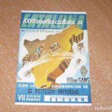 Coleccionismo deportivo: POSTAL DE VUELTA CICLISTA A CATALUÑA 1947. Lote 270220938