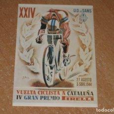 Coleccionismo deportivo: POSTAL DE VUELTA CICLISTA A CATALUÑA 1944. Lote 270221028