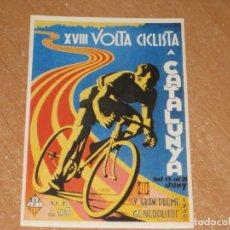 Coleccionismo deportivo: POSTAL DE VUELTA CICLISTA A CATALUÑA 1936. Lote 270221383