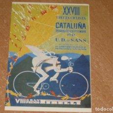 Coleccionismo deportivo: POSTAL DE VUELTA CICLISTA A CATALUÑA 1948. Lote 270221558
