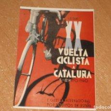 Coleccionismo deportivo: POSTAL DE VUELTA CICLISTA A CATALUÑA 1940. Lote 270221663