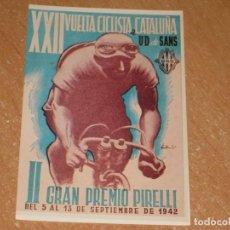 Coleccionismo deportivo: POSTAL DE VUELTA CICLISTA A CATALUÑA 1942. Lote 270221708