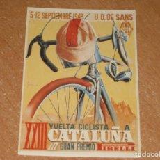 Coleccionismo deportivo: POSTAL DE VUELTA CICLISTA A CATALUÑA 1943. Lote 270221953