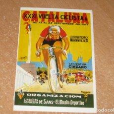 Coleccionismo deportivo: POSTAL DE VUELTA CICLISTA A CATALUÑA 1951. Lote 270228563