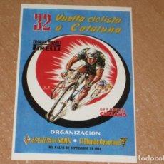Coleccionismo deportivo: POSTAL DE VUELTA CICLISTA A CATALUÑA 1952. Lote 270228663