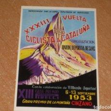 Coleccionismo deportivo: POSTAL DE VUELTA CICLISTA A CATALUÑA 1953. Lote 270228718