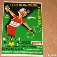 Coleccionismo deportivo: POSTAL DE VUELTA CICLISTA A CATALUÑA 1954. Lote 270228778