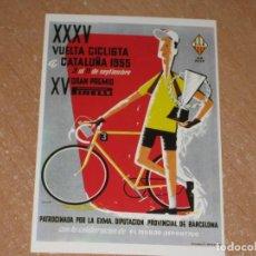 Coleccionismo deportivo: POSTAL DE VUELTA CICLISTA A CATALUÑA 1955. Lote 270228818