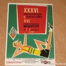Coleccionismo deportivo: POSTAL DE VUELTA CICLISTA A CATALUÑA 1956. Lote 270228868