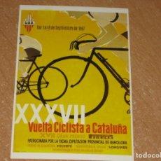Coleccionismo deportivo: POSTAL DE VUELTA CICLISTA A CATALUÑA 1957. Lote 270228908