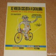 Coleccionismo deportivo: POSTAL DE VUELTA CICLISTA A CATALUÑA 1960. Lote 270229108