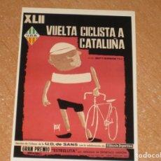 Coleccionismo deportivo: POSTAL DE VUELTA CICLISTA A CATALUÑA 1962. Lote 270230323