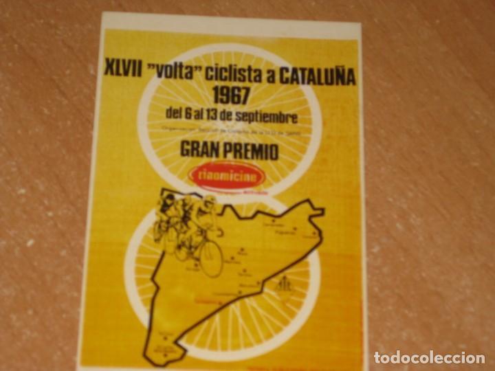 POSTAL DE VUELTA CICLISTA A CATALUÑA 1967 (Coleccionismo Deportivo - Postales de otros Deportes )
