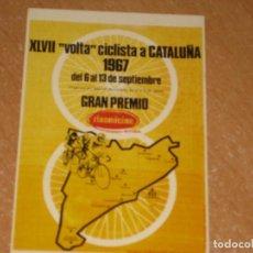 Coleccionismo deportivo: POSTAL DE VUELTA CICLISTA A CATALUÑA 1967. Lote 270230403
