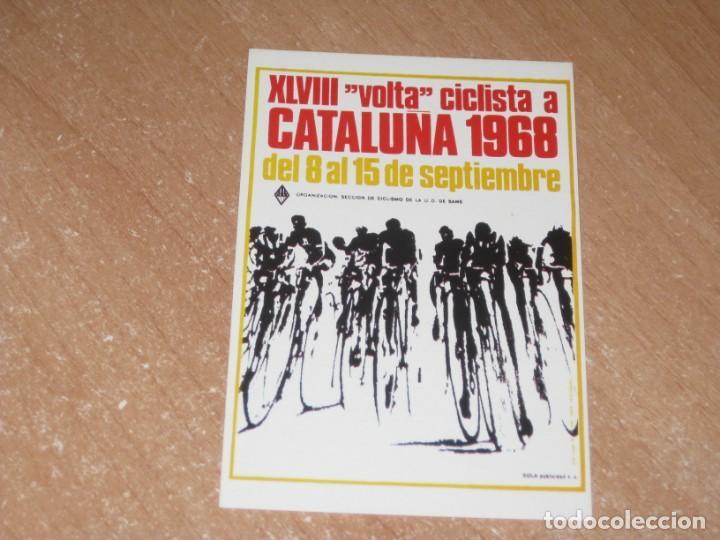 POSTAL DE VUELTA CICLISTA A CATALUÑA 1968 (Coleccionismo Deportivo - Postales de otros Deportes )
