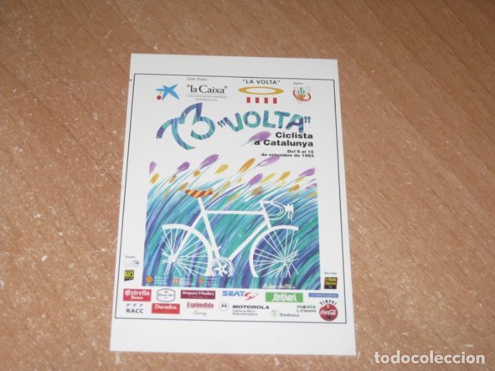 POSTAL DE VUELTA CICLISTA A CATALUÑA 1993 (Coleccionismo Deportivo - Postales de otros Deportes )
