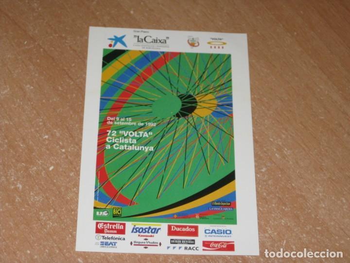 POSTAL DE VUELTA CICLISTA A CATALUÑA 1992 (Coleccionismo Deportivo - Postales de otros Deportes )