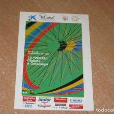 Coleccionismo deportivo: POSTAL DE VUELTA CICLISTA A CATALUÑA 1992. Lote 270236868