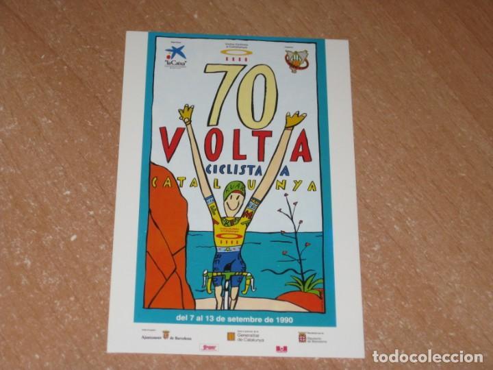 POSTAL DE VUELTA CICLISTA A CATALUÑA 1990 (Coleccionismo Deportivo - Postales de otros Deportes )