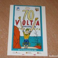 Coleccionismo deportivo: POSTAL DE VUELTA CICLISTA A CATALUÑA 1990. Lote 270236973