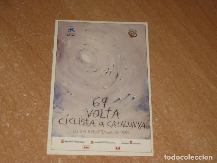 POSTAL DE VUELTA CICLISTA A CATALUÑA 1989 (Coleccionismo Deportivo - Postales de otros Deportes )